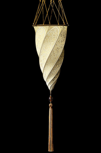 Lampada in seta Fortuny Cesendello