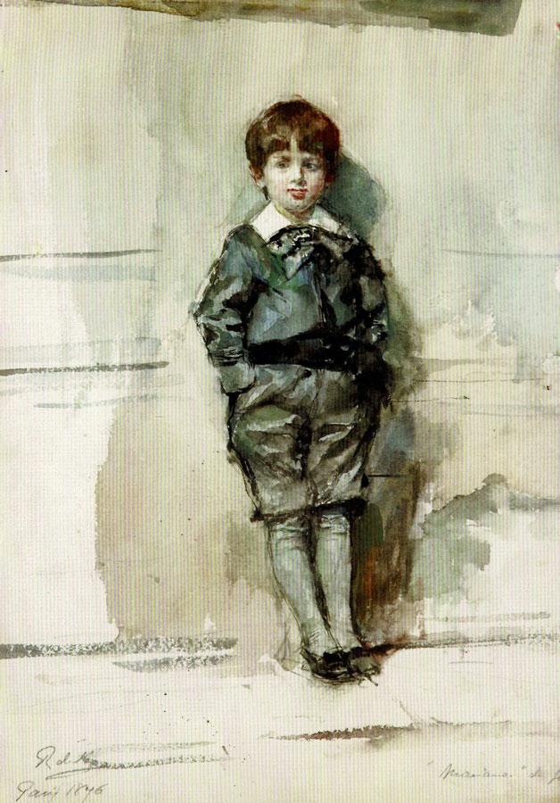Mariano Fortuny all'età di sei anni