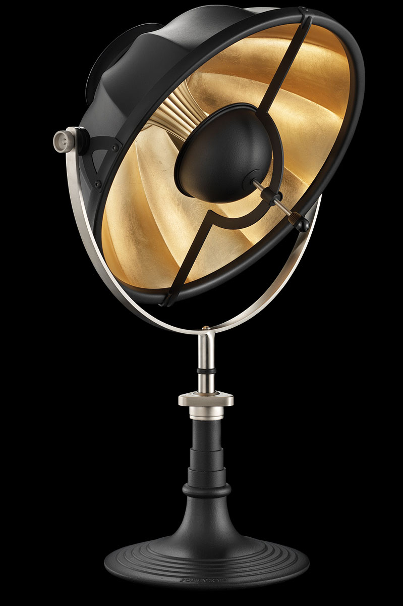 Lampada da tavolo Fortuny Armilla 41 nero e foglia oro
