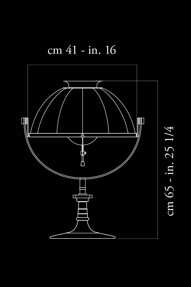 Lampada da tavolo Fortuny Armilla 41 misure