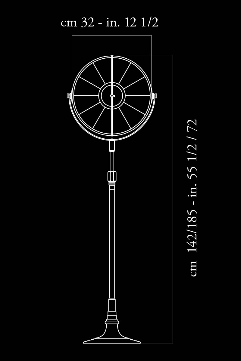 Lampada da terra Fortuny Atelier 32 dimensioni