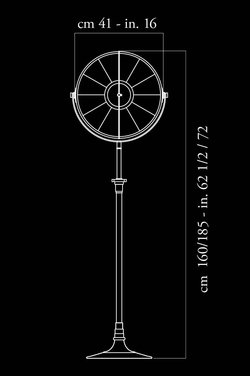 Lampada da terra Fortuny Atelier 41 dimensioni