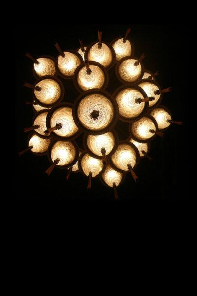 Lampada in vetro Fortuny Cesendello Cascade vista da sotto