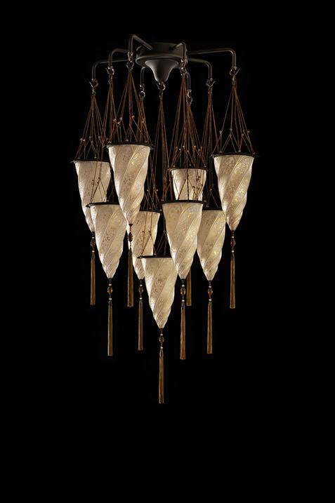 Lampada in vetro Fortuny Cesendello Chandelier