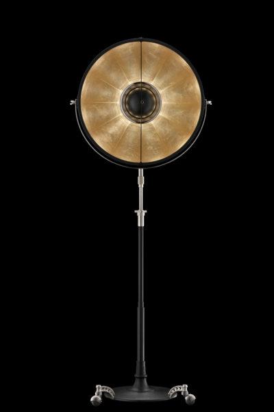 Lampada da terra Fortuny Atelier 63 nera e foglia oro