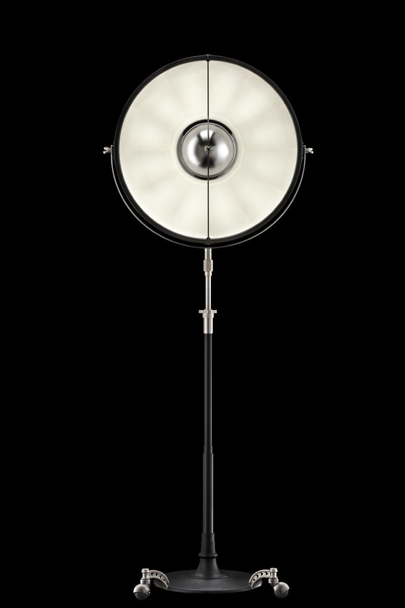 Lampada da terra Fortuny Atelier 63 bianca e nera