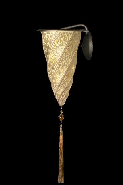 Lampada applique Fortuny Cesendello in vetro oro