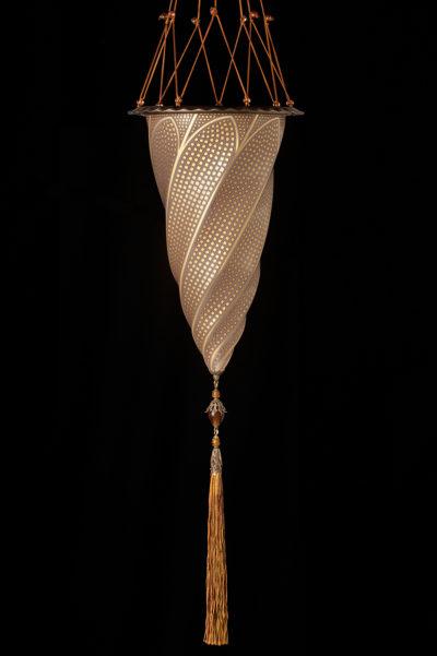 Lampada Fortuny Cesendello a mosaico in vetro oro
