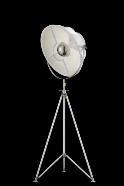 Lampada Fortuny Studio 63 bianca con treppiede