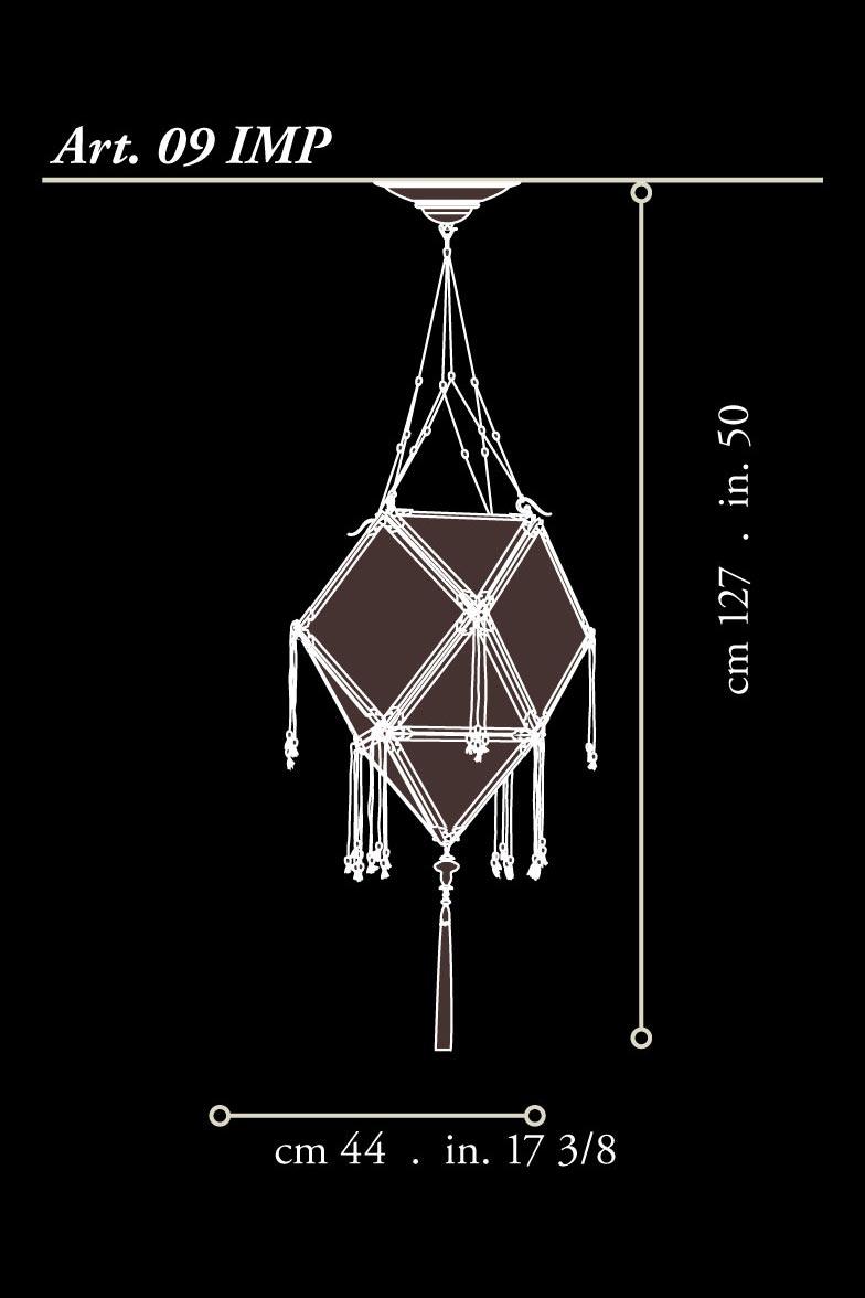 Lampada Fortuny Concubine Imperiale in seta con struttura in legno dimensioni
