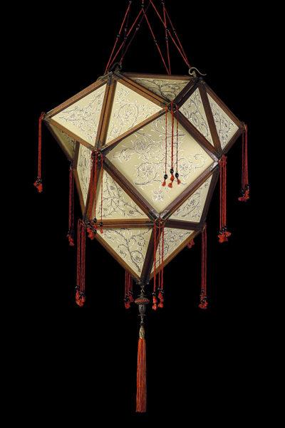 Lampada Fortuny Concubine Proibita seta con struttura in legno