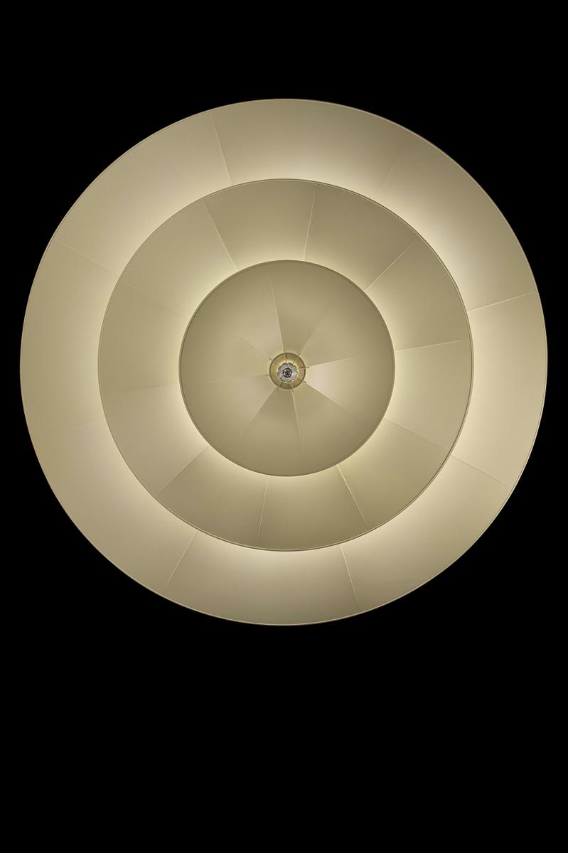Lampada Fortuny Icaro 3 dischi in fibra di vetro avorio
