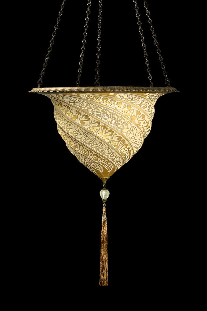 Fortuny Samarkanda gold glass lamp