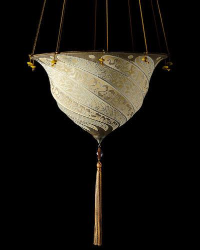 Lampada in seta Fortuny Samarkanda Serpentine
