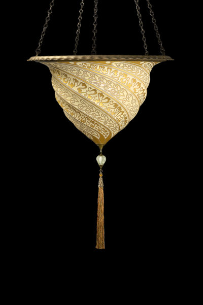 Lampada Fortuny Samarkanda in vetro oro