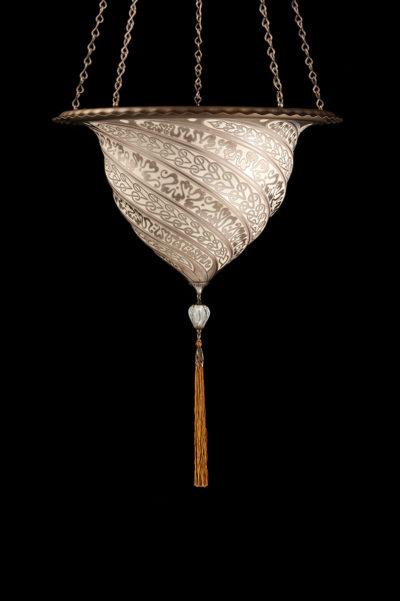 Lampada Fortuny Samarkanda in vetro argento