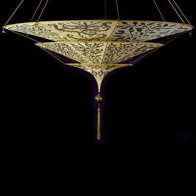 Lampada in seta Fortuny Scheherazade Herbarium 3 dischi