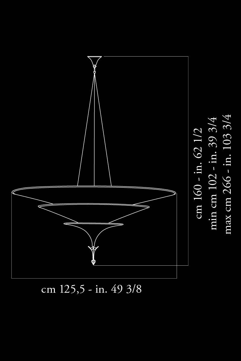 Fortuny Icaro 126 dimensions