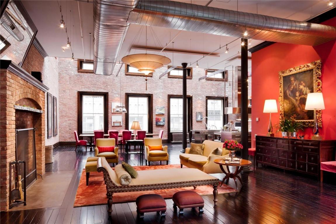 Triplex Loft Mansion a Tribeca, New York, con lampade Fortuny 2