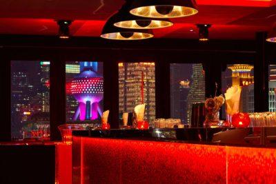 Lampade Fortuny Studio 1907 Cupola al Bar Rouge di Shangai