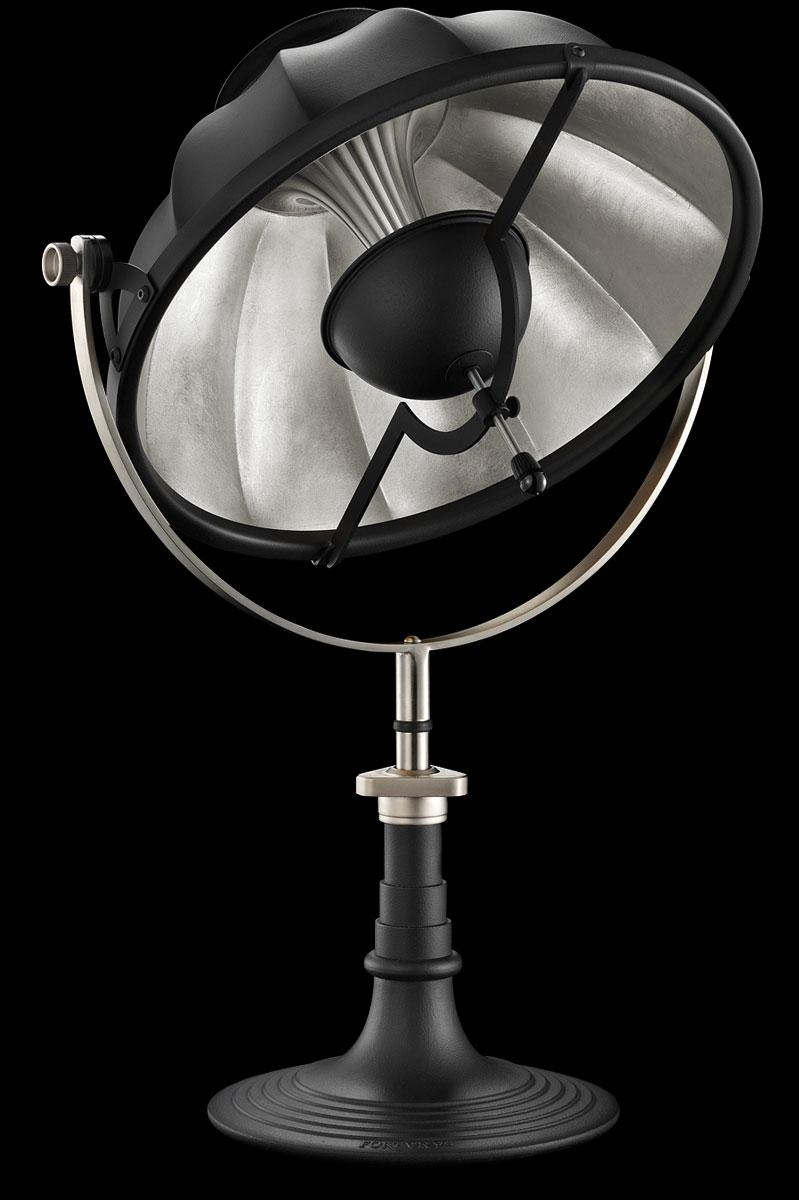 Lampada da tavolo Armilla 41 nera e foglia argento