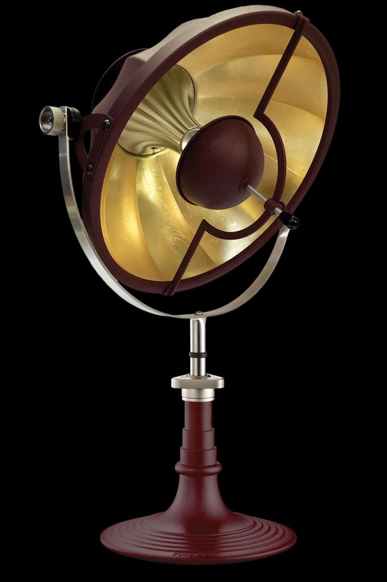 Lampada da tavolo Fortuny Armilla 41 rosso antico e foglia oro