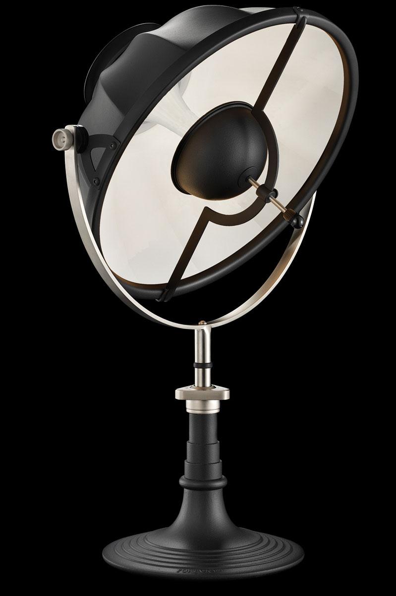 Lampada da tavolo Fortuny Armilla bianca e nera