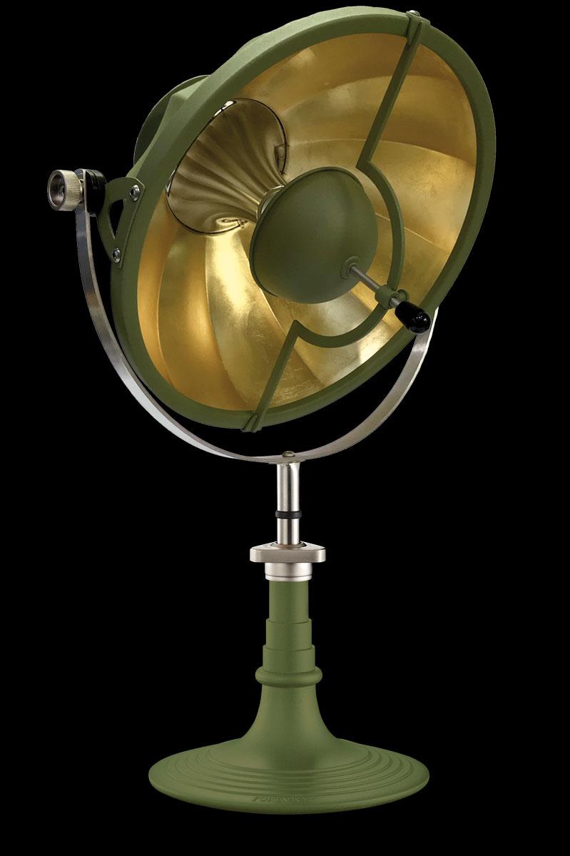 Lampada da tavolo Fortuny Armilla 41 verde pastello e foglia oro
