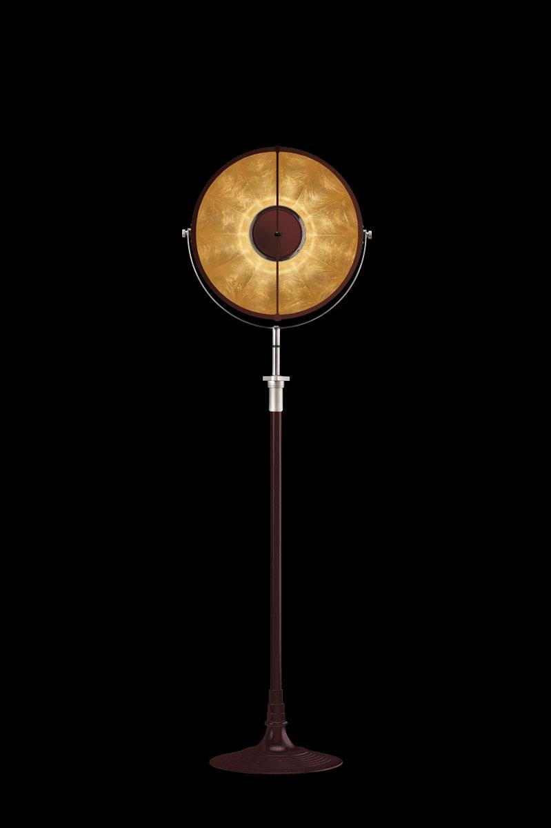 Lampada Fortuny Studio 1907 Atelier 41 rosso antico e foglia oro