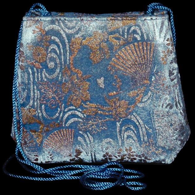 Borsa in velluto stampato Gioia azzurra