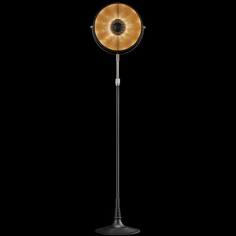 Lampada Fortuny Studio 1907 Atelier 32 nero e oro