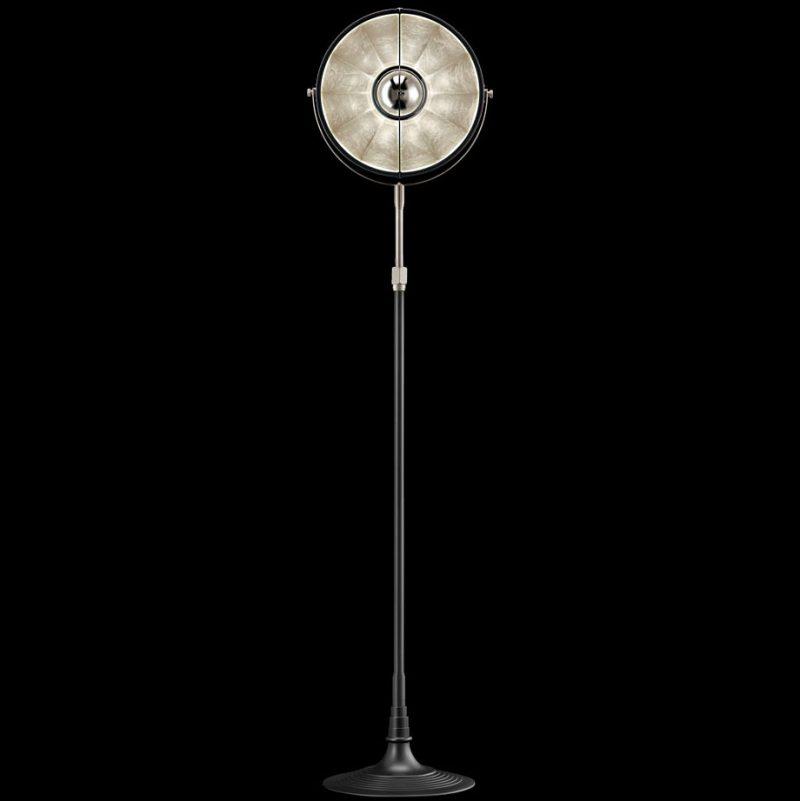 Lampada Fortuny Studio 1907 Atelier 32 nero e foglia argento