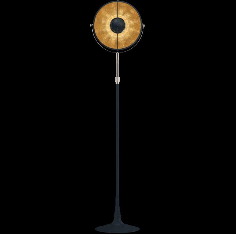 Lampada Fortuny Studio 1907 Atelier 32 blu pastello e foglia oro