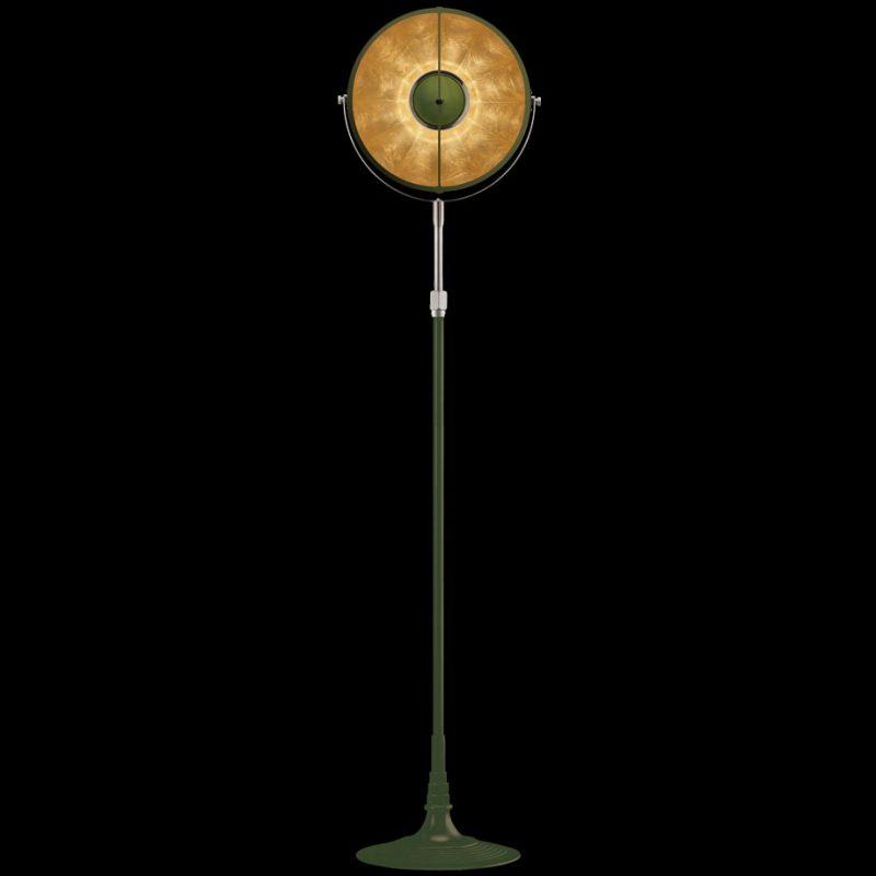 Lampada Fortuny Studio 1907 Atelier 32 verde pastello e foglia oro