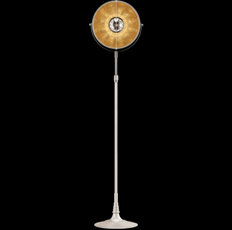 Lampada Fortuny Studio 1907 Atelier 32 bianca e foglia oro