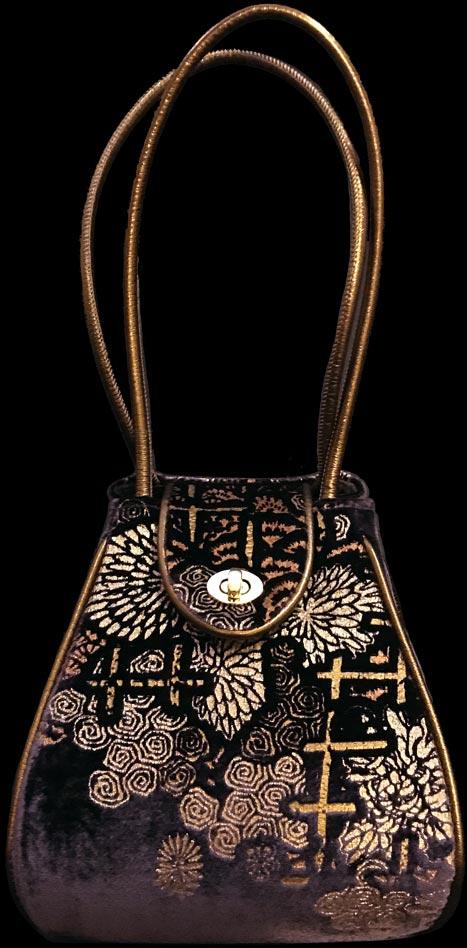 Fortuny Moretta 903 printed velvet bag