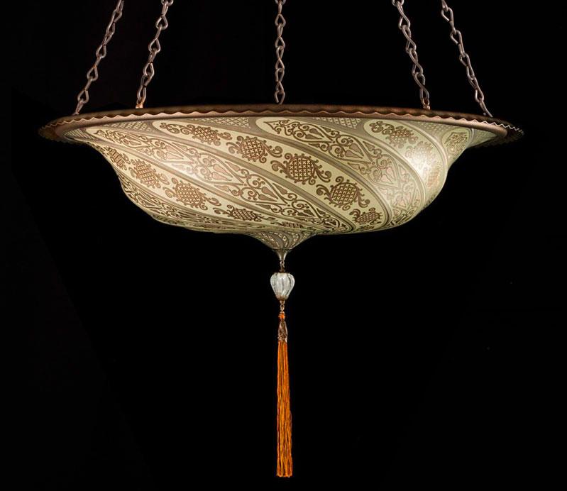 Lampada in vetro argento Fortuny Scudo Saraceno Classic