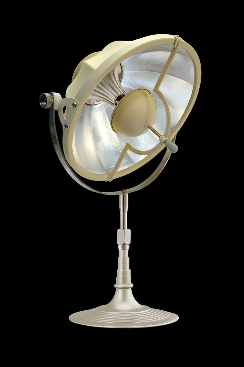Lampada da tavolo Fortuny Armilla 32 quarzo e foglia argento