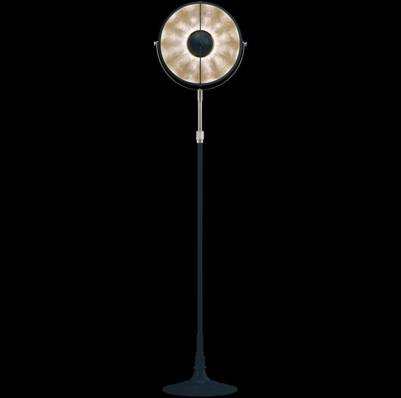 Lampada Fortuny Studio 1907 Atelier 32 blu pastello e foglia argento