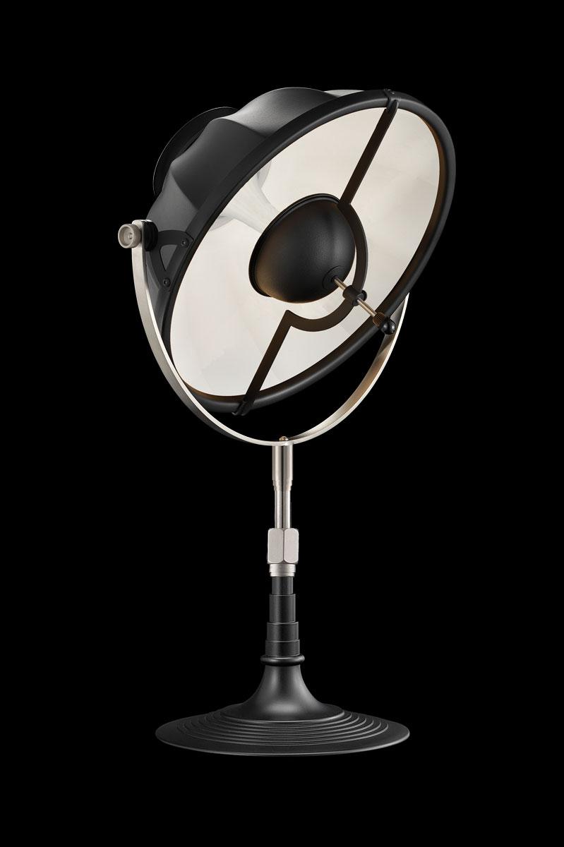 Lampada da tavolo Fortuny Armilla 32 bianca e nera