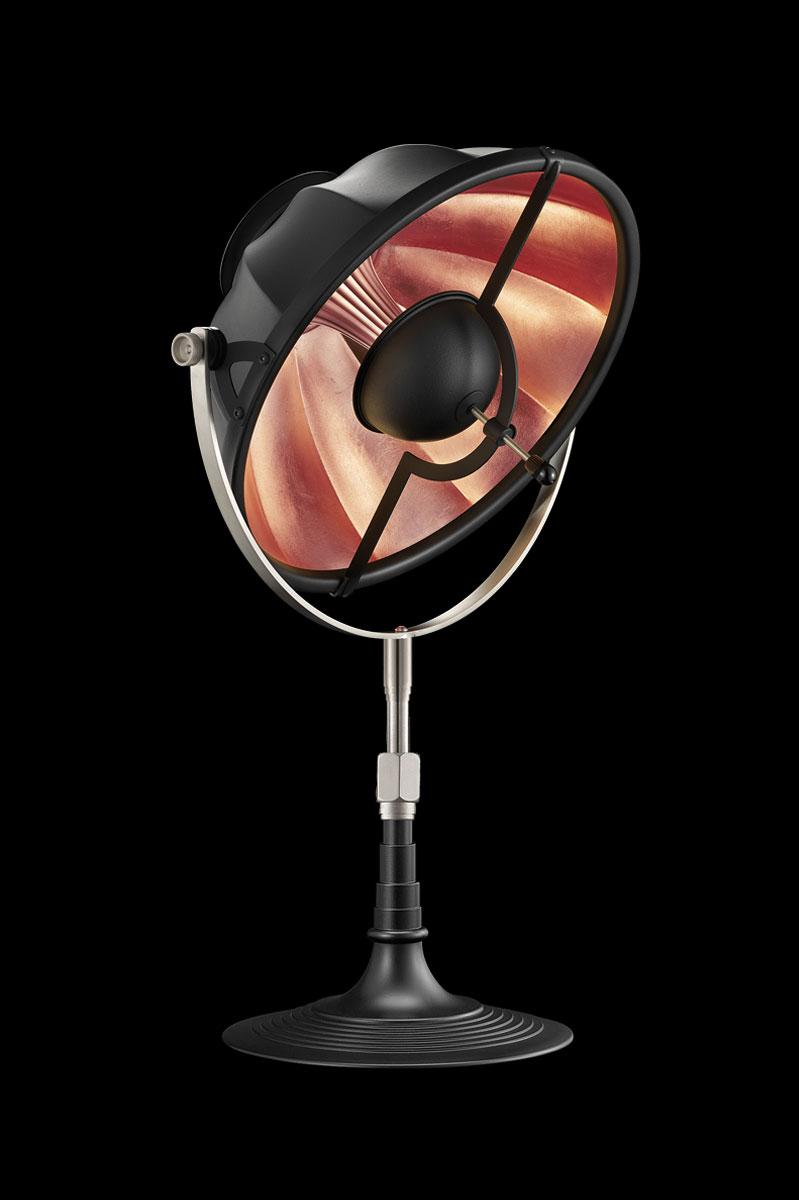 Lampada da tavolo Fortuny Armilla 32 nera e foglia rame