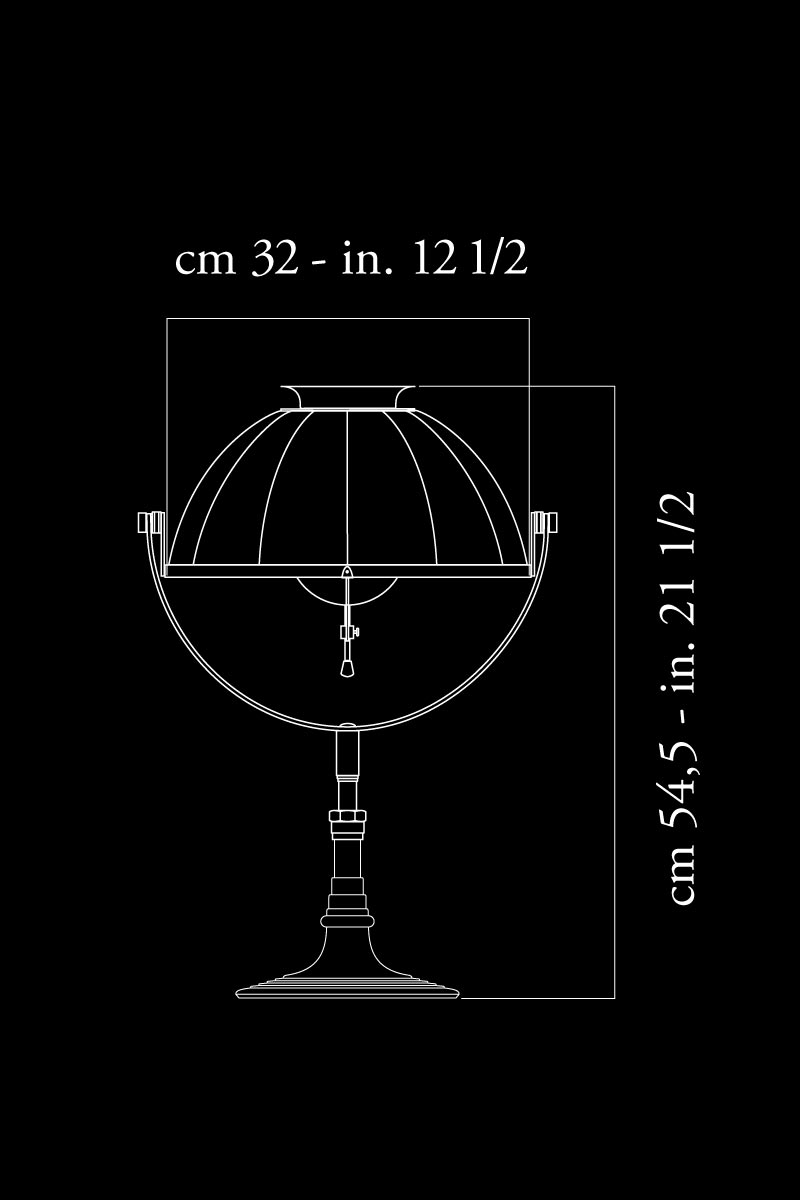 Lampada da tavolo Fortuny Armilla 32 misure