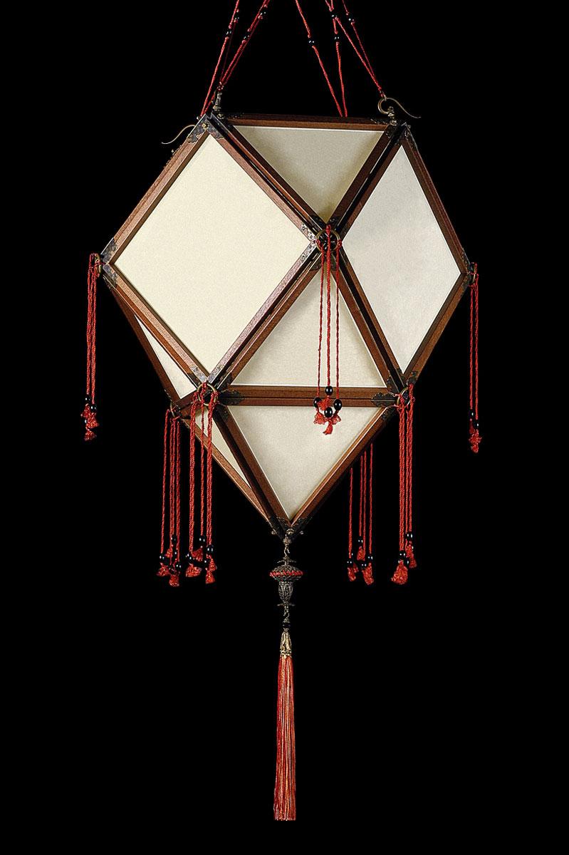Lampada in seta Fortuny Concubine Imperiale Plain senza decorazioni