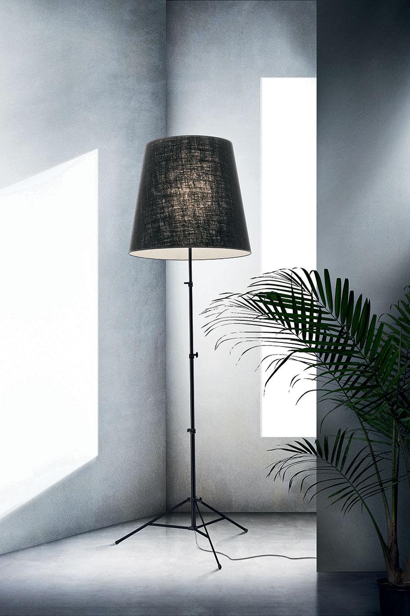 Lampada Pallucco Gilda pergamena nera