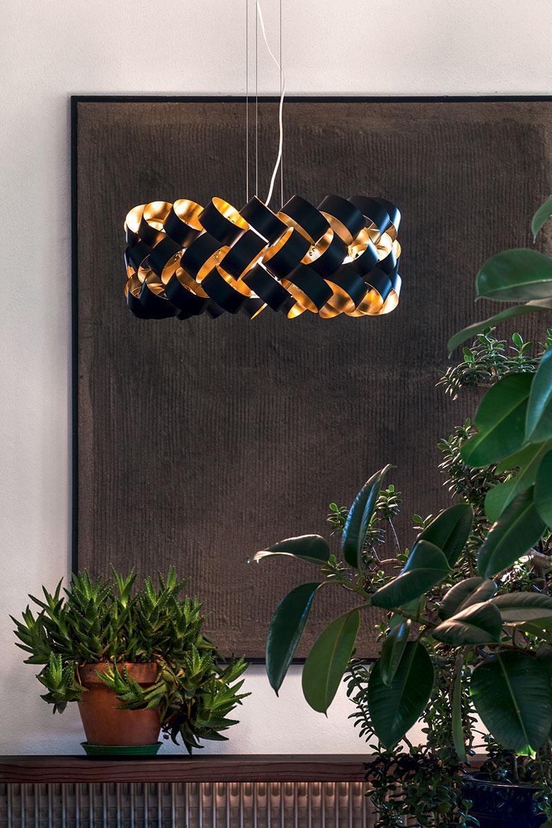 Lampada Pallucco Ring 600 nera oro 1