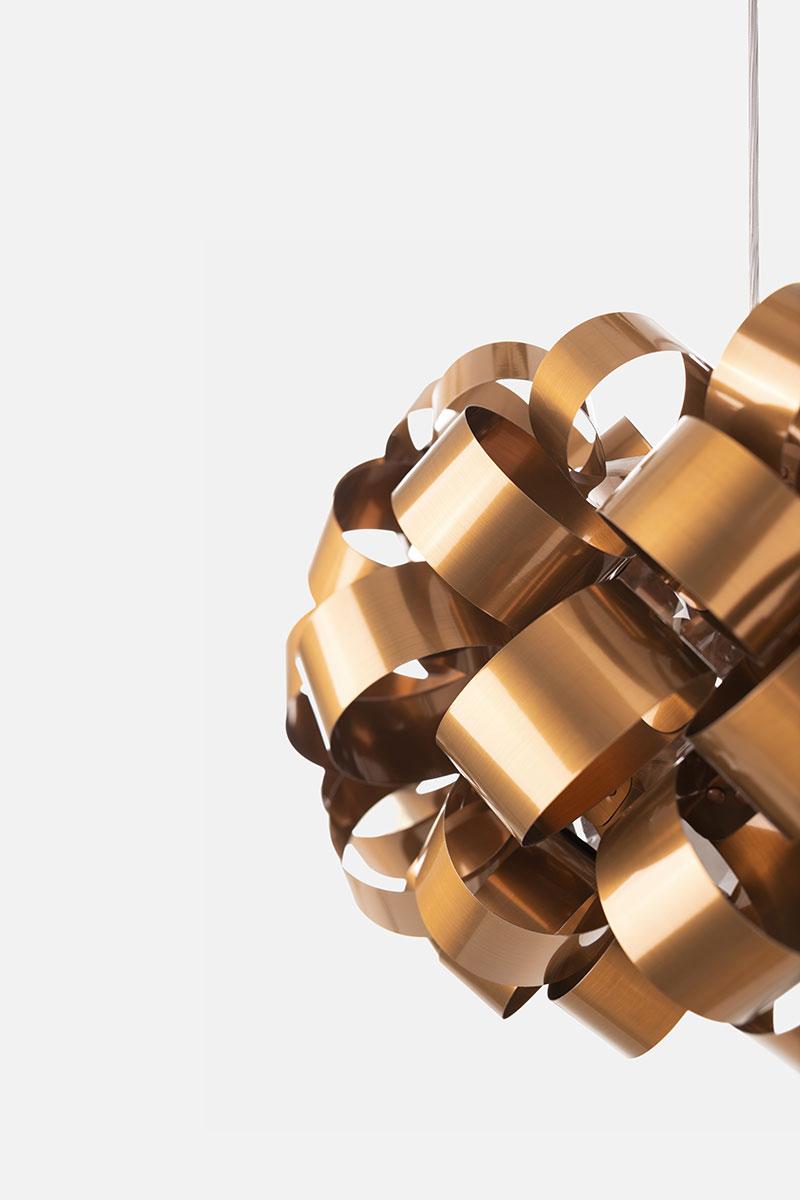 Lampada Pallucco Ring Sphere rame