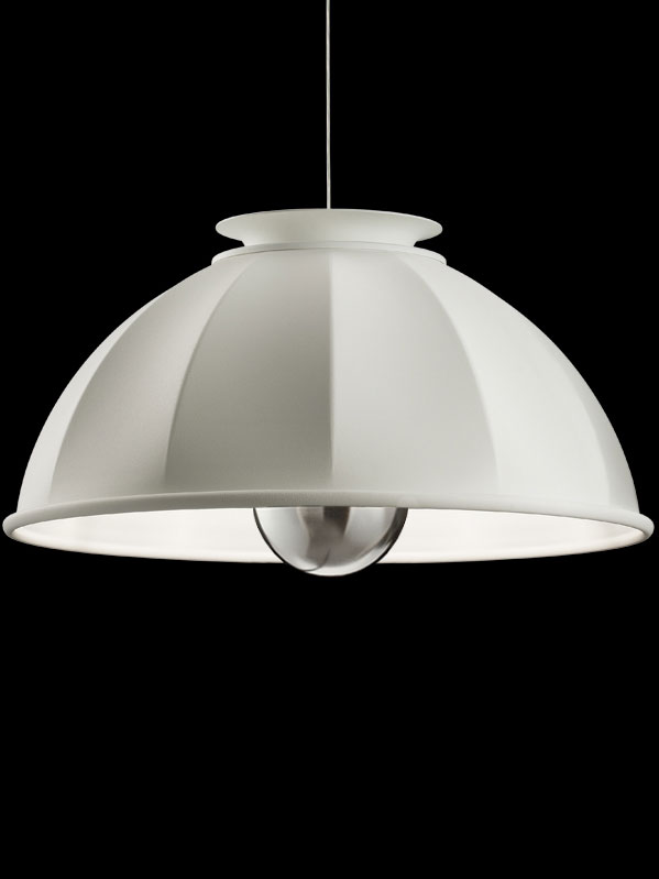 Fortuny Cupola 76 white suspended lamp