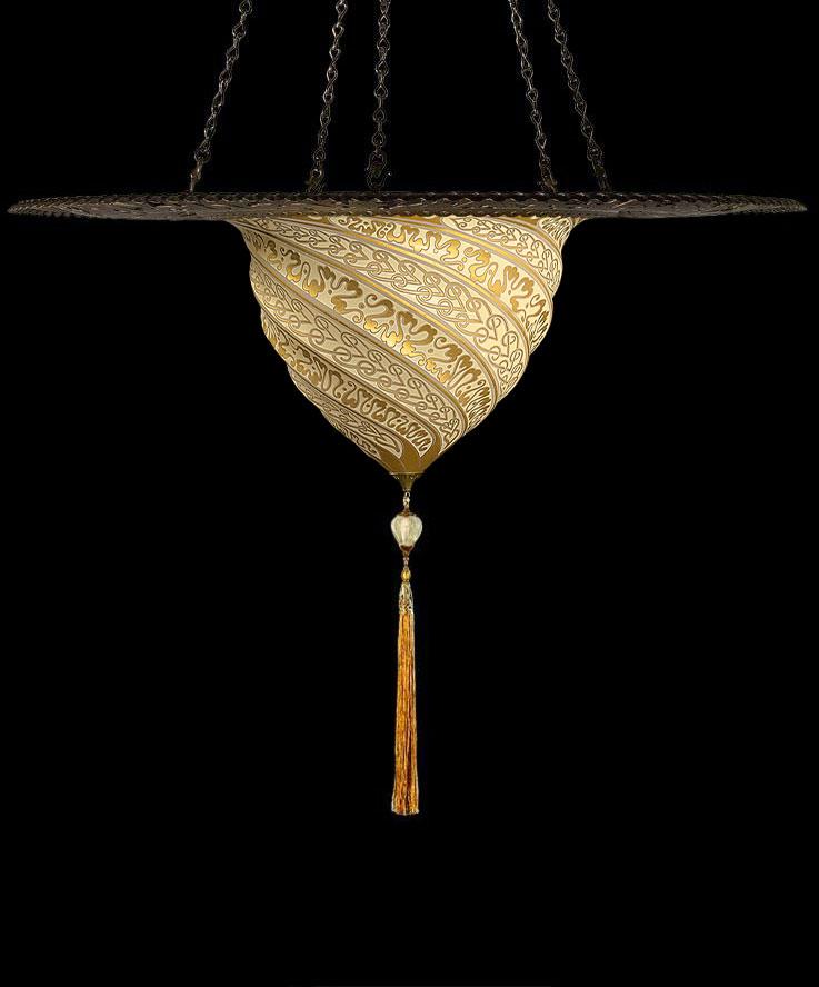 Samarkanda in vetro con anello metallico