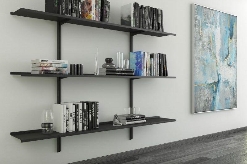 Libreria Pallucco Continua modulare nera da muro