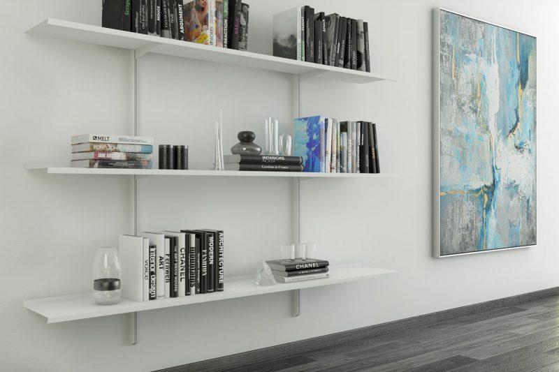 Pallucco Continua white modular wall bookcase